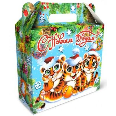 Сладкий новогодний подарок Чемоданчик Тигрёнок  600гр