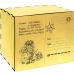 Упаковка из фанеры для сладких новогодних подарков Посылка 1000 гр