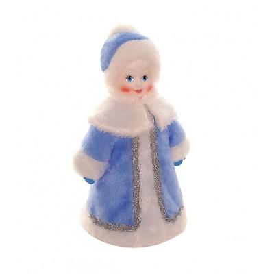 Упаковка из текстиля для сладких новогодних подарков Снегурочка мягкая игрушка 800-1000 гр