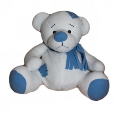 Упаковка текстильная для сладких новогодних подарков Мишка 1000-1200 гр