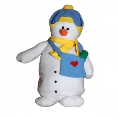 Сладкий новогодний подарок Снеговик Антошка, с сумочкой 1000гр