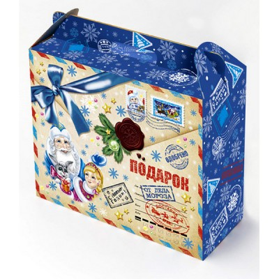 Сладкий новогодний подарок Портфель почта, 800 гр