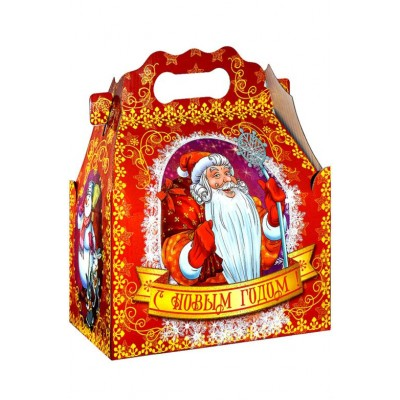 Сладкий новогодний подарок Ларец Мороз, 1100 гр