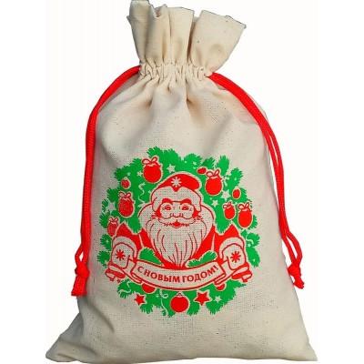 Сладкий новогодний подарок Мешочек Дед Мороз, 1000 гр